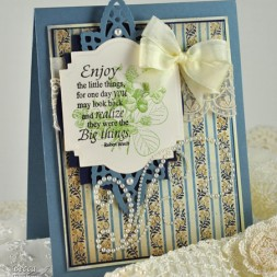 ODBD and Spellbinders Card by amazingpapergrace called Enjoy the Little Things