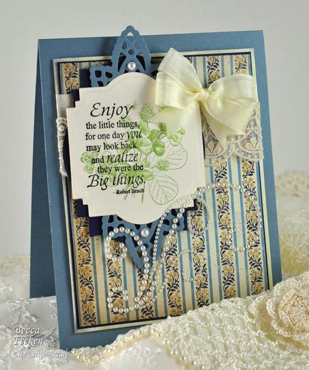 Amazingpapergrace - Enjoy the Little Things card
