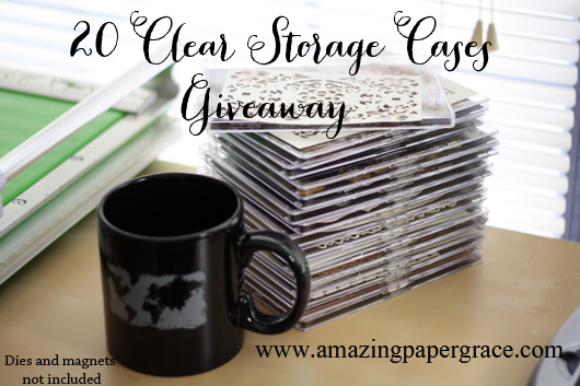 Win 20 Clear Storage Cases on www.amazingpapergrace.com ends 7/29/13