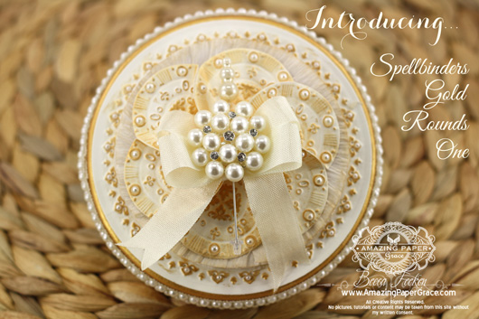 New Spellbinders Gold Rounds One for Summer CHA 2013
