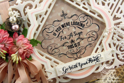JustRite Filigree Corners, Looking for a Sign, Spellbinders Custom for JustRite - Filigree Corners, JustRite Vintage Labels Three, JustRite Vintage Label and Banners Die - www.amazingpapergrace.com - closeup