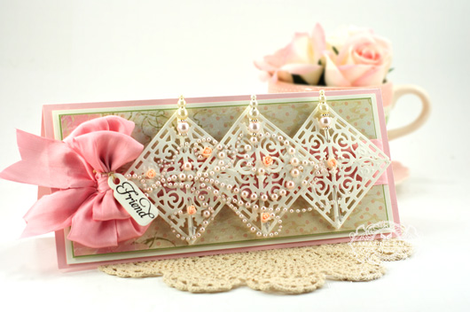 Card Making Ideas by Amazingpapergrace using Justrite Papercrafts – JustRite Custom Filigree Corners Die,  Just The Right Words, Spellbinders Back to Basic Tags