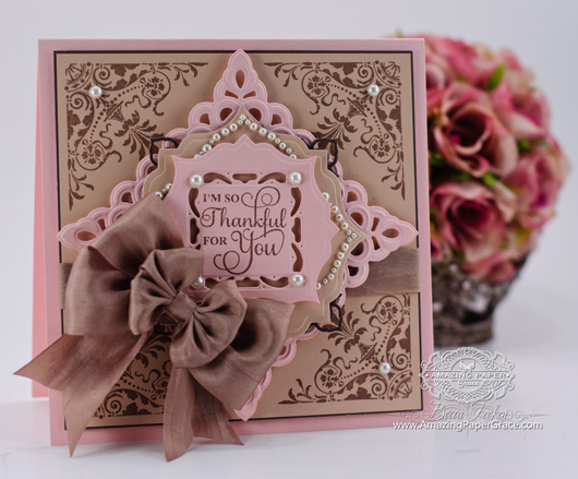 Card Making Ideas Using JustRite Papercraft – Ornate Corners, Autumn Vintage Labels Three, Spellbinders Asian Motifs, Spellbinders Captivating Squares, Spellbinders Labels Thirty Two and Spellbinders Gold Squares One