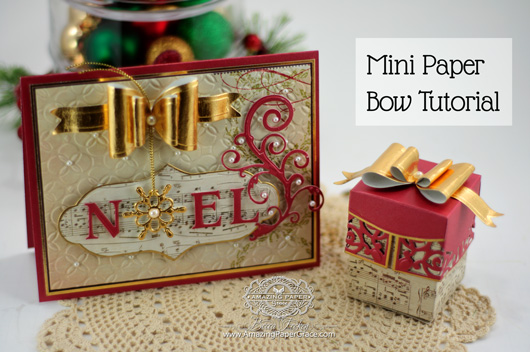 Mini Paper Bow Tutorial by Becca Feeken