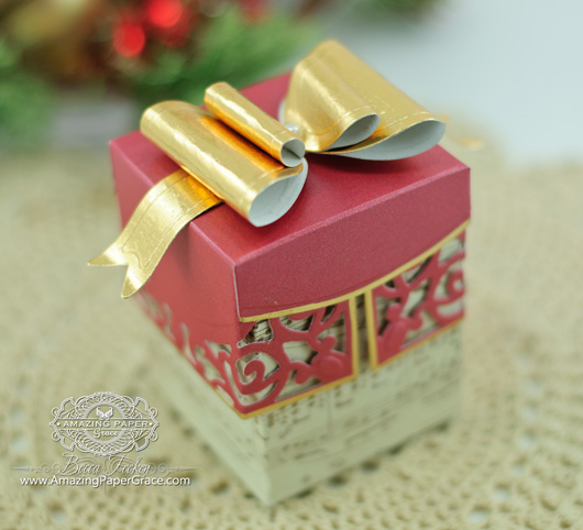 Filigree Delight Box with Mini Paper Bow