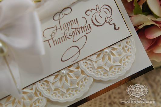 Card making ideas by Becca Feeken using Quietfire Design - Give Thanks Stamp Set