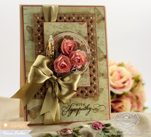 Card making ideas by Becca Feeken using Waltzingmouse - Big Day Today and Spellbinders