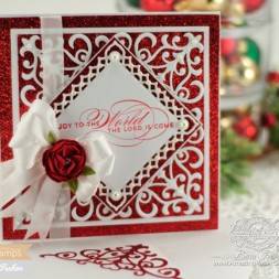 Card Making Ideas by Becca Feeken Using Waltzingmouse Stamps Season Flourish and Spellbinders
