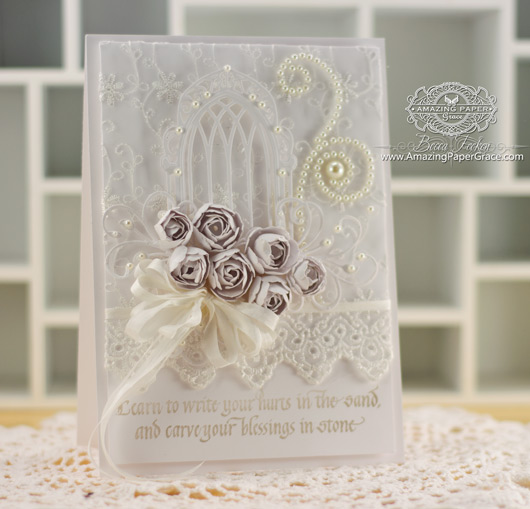 Card Making Ideas from Becca Feeken using Quietfire Design - Learn to Write Your Hurts and Spellbinders