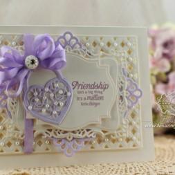 Card Making Ideas by Becca Feeken using JustRite Papercraft Sweet Hearts and Spellbinders