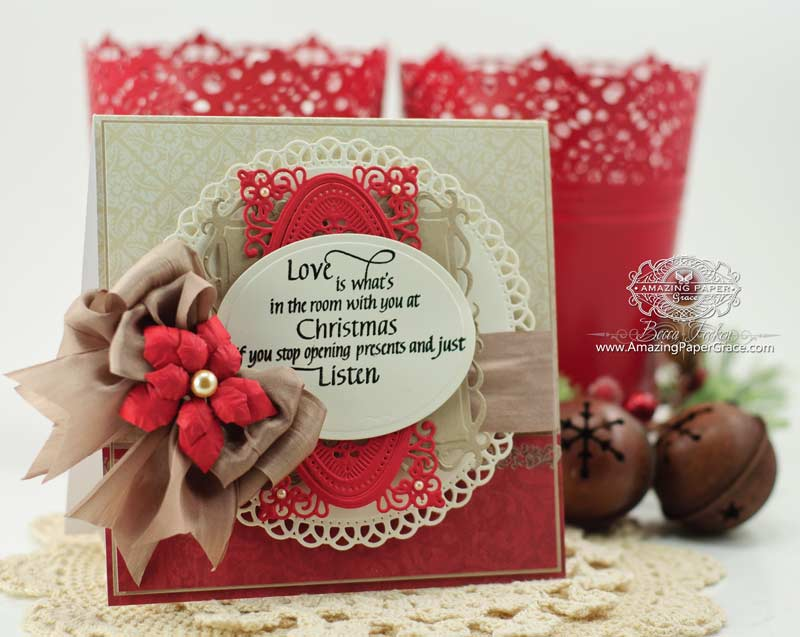 Love Card Making Ideas Part - 27: Card Making Ideas By Becca Feeken Using Quietfire Design - Love Is What