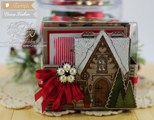 Card Making Ideas by Becca Feeken using Waltzingmouse Stamps - A Cottage Christmas
