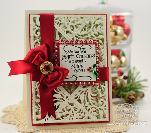 Card Making Ideas by Becca Feeken using Quietfire Design - My Idea of a Perfect Christmas and Spellbinders