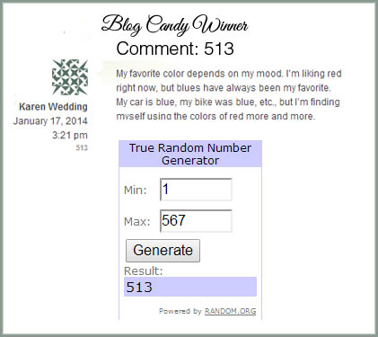 Blog Candy Winner 011814