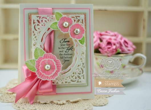 Card Making Ideas using Waltzingmouse Stamps - Funky Flowers and Light of the World along with Spellbinders