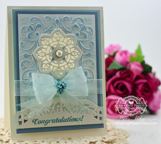 Card Making Ideas by Becca Feeken using the New 2014 Spellbinders Ornate Labels One