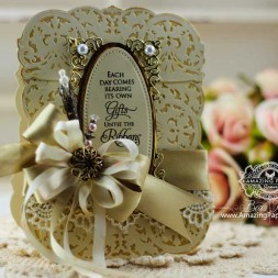 Card Making Ideas by Becca Feeken using New Spellbinders - A Gilded Life Belgian Lace