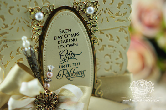 Card Making Ideas by Becca Feeken using New 2014 Spellbinders - A Gilded Life Belgian Lace