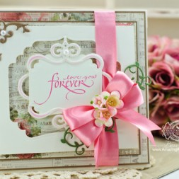 Card Making Ideas by Becca Feeken using Calligraphic Love Bits and 2014 Spellbinders Labels Thirty Seven