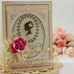 Card Making Ideas by Becca Feeken using Spellbinders Silhouette and Spellbinders 5x7 Heirloom Legacy