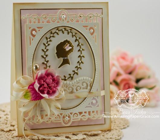 Card Making Ideas by Becca Feeken using Spellbinders Silhouette and Spellbinders 5x7 Heirloom Legacy
