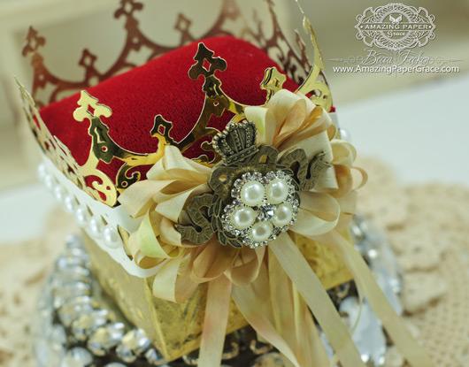 Altered Item making ideas by Becca Feeken - Crown - using 2014 Spellbinders Petite Monarch Die