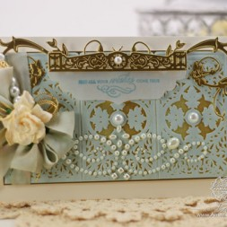 Card Making Ideas by Becca Feeken using 2014 Spellbinders Vintage Brocade