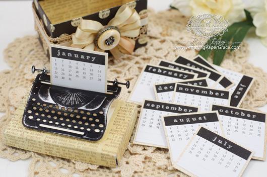 Altered Item Ideas by Becca Feeken using Spellbinders Typewriter
