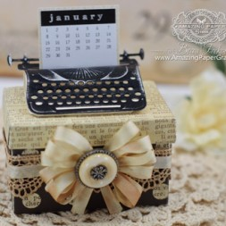 Altered Item Ideas by Becca Feeken using 2014 Spellbinders Typewriter