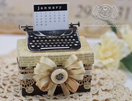 Altered Item Ideas by Becca Feeken using 2014 Spellbinders Typewriter (Calendar)
