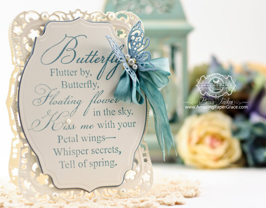 Card Making Ideas by Becca Feeken Using JustRite Secret Whisper and Spellbinders Majestic Labels Eight and Spellbinders Labels Thirty Six