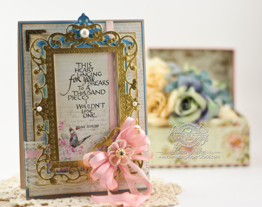 Card Making Ideas by Becca Feeken using Quietfire Design - This Heart Longing For You and 2014 Spellbinders  5 x 7 Reflective Moments