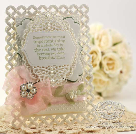 Card Making Ideas using 2014 Spellbinders Tranquil Moments