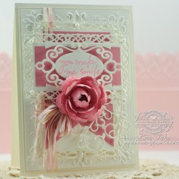 Card making Ideas by Becca Feeken using Spellbinders Create A Rose and Romantic Rectangles Two