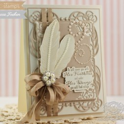 Card Making Ideas using Waltzingmouse Stamps Fine Feathers and Spellbinders Mystical Embrace and Divine Eloquence