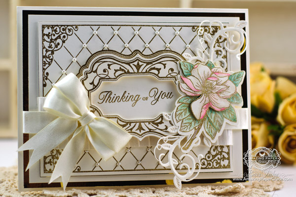 Card Making Ideas by Becca Feeken using JustRite Magnolia Vintage Labels Seven Die and SVG