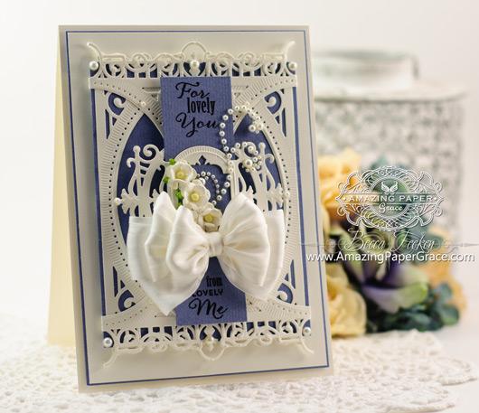 Gift Card Making Ideas by Becca Feeken using Spellbinders 5 x 7 Heirloom Legacy