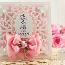 Card Making Ideas by Becca Feeken using Quietfire Design Garden Delights and Spellbinders Antique Corner and Wonderful Locket