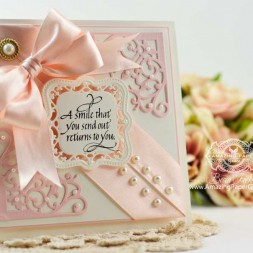 Friendship Cardmaking Ideas by Becca Feeken using Spellbinders Antique Corner - www.amazingpapergrace.com