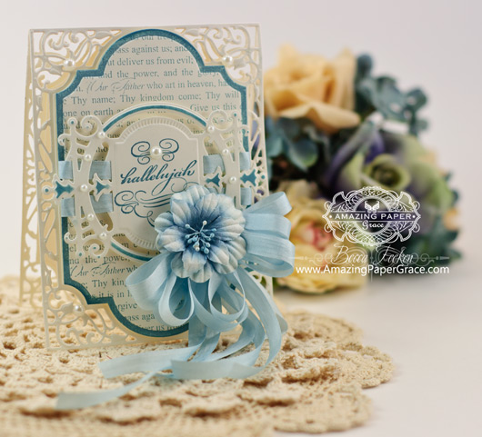 Easter Card Making Ideas by Becca Feeken using Spellbinders Divine Eloquence and Labels Twenty Eight