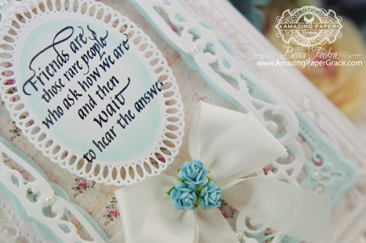 Card Making Ideas by Becca Feeken using Quietfire Design - Friends are Those Rare People and Spellbinders Elegant Labels Four (Closeup)