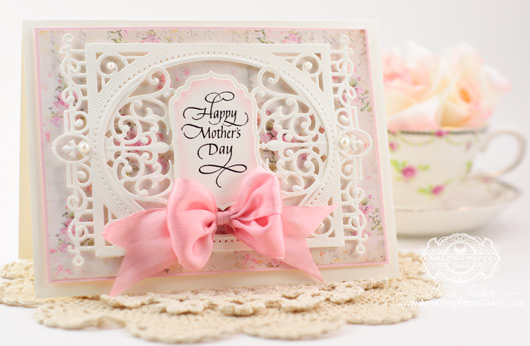 Mothers Day Card Making Ideas by Becca Feeken using Spellbinders Heirloom Legacy and Quietfire Design