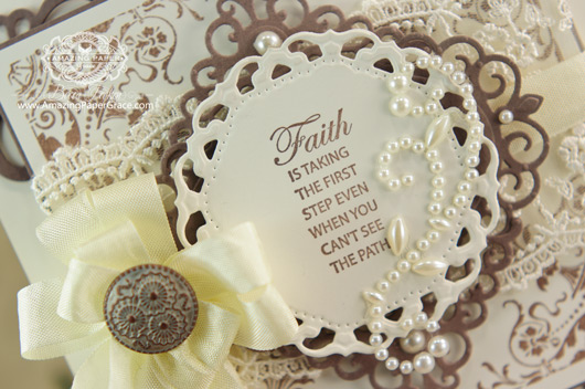 Card Making Ideas by Becca Feeken using JustRite Congrats Vintage Labels Three and Seven (close up)