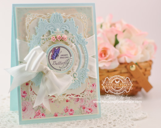 Card Making Ideas by Becca Feeken using JustRite Butterfies and Spellbinders Gold Majesty Circles