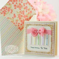 Birthday Card Making Ideas by Becca Feeken using JustRite Cupcake Wishes and Spellbinders Marvelous Squares