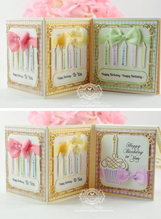Card Making Ideas by Becca Feeken - Tri-fold Peek-A-Boo Card
