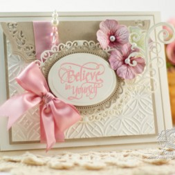 Encouragement Card Making Ideas by Becca Feeken using Quietfire Design - If You Don't Believe in Miracles and Spellbinders