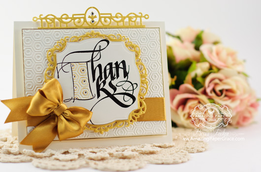 Thank You Card Making Ideas by Becca Feeken using Quietfire Fill