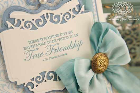 Friendship Card Making Ideas by Becca Feeken using JustRite Twisted Fleur