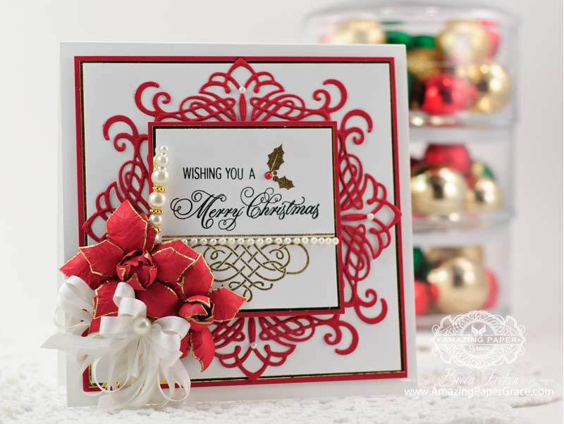 Justrite papercraft june 2014 release day four amazing for Elegant homemade christmas cards